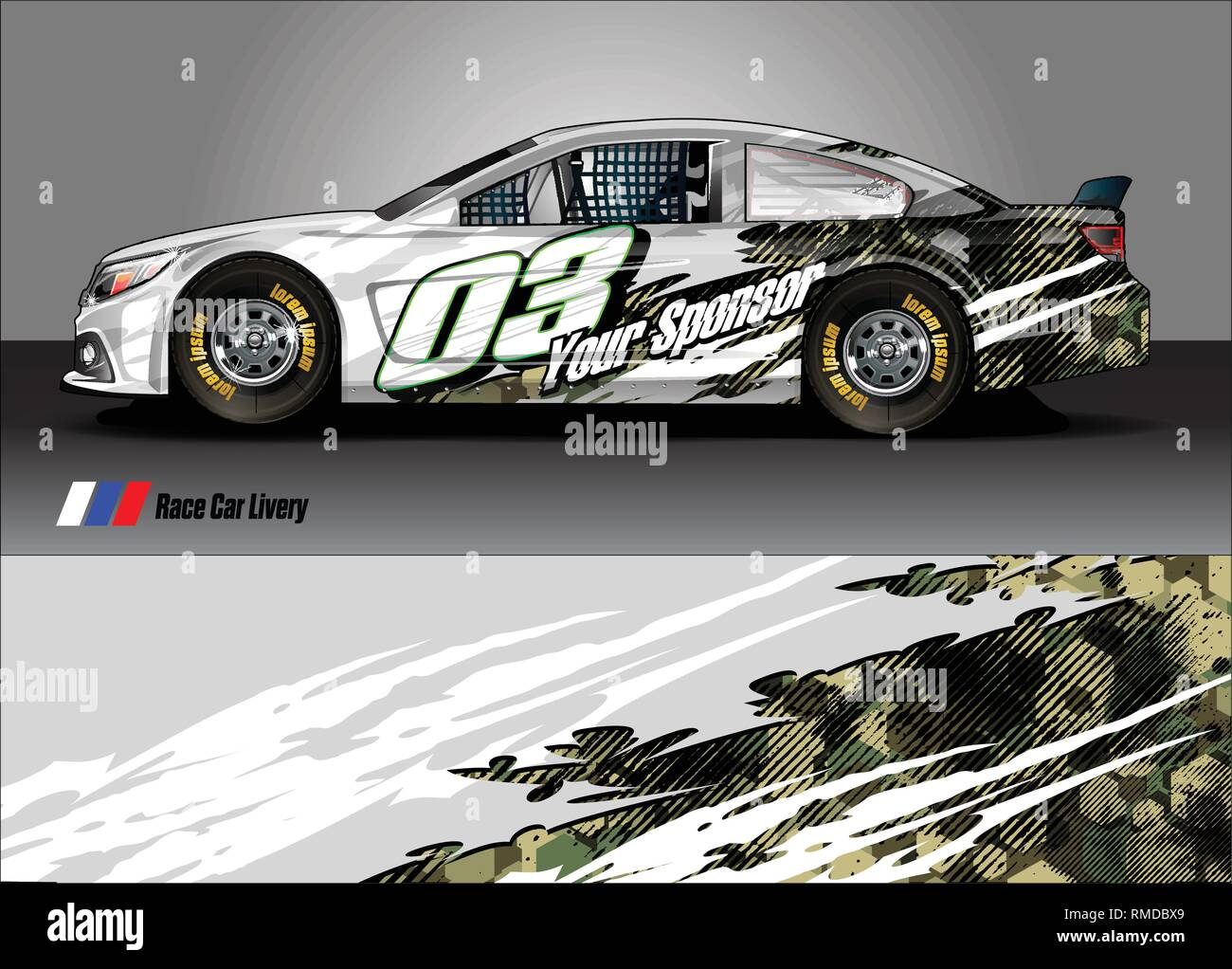car wrap design  simple lines with abstract background