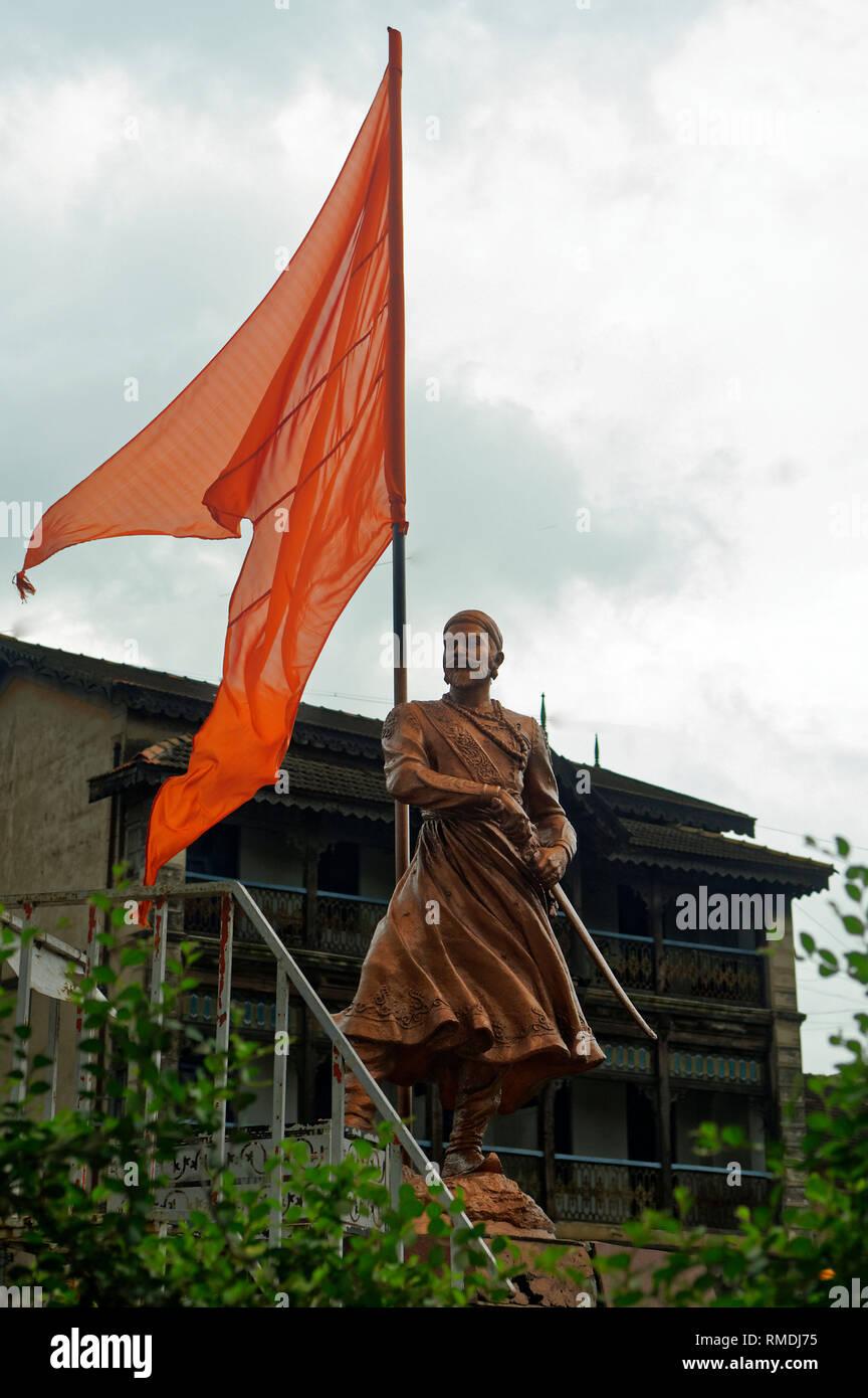 Shivaji Maharaj Statue India Stock Photos & Shivaji Maharaj