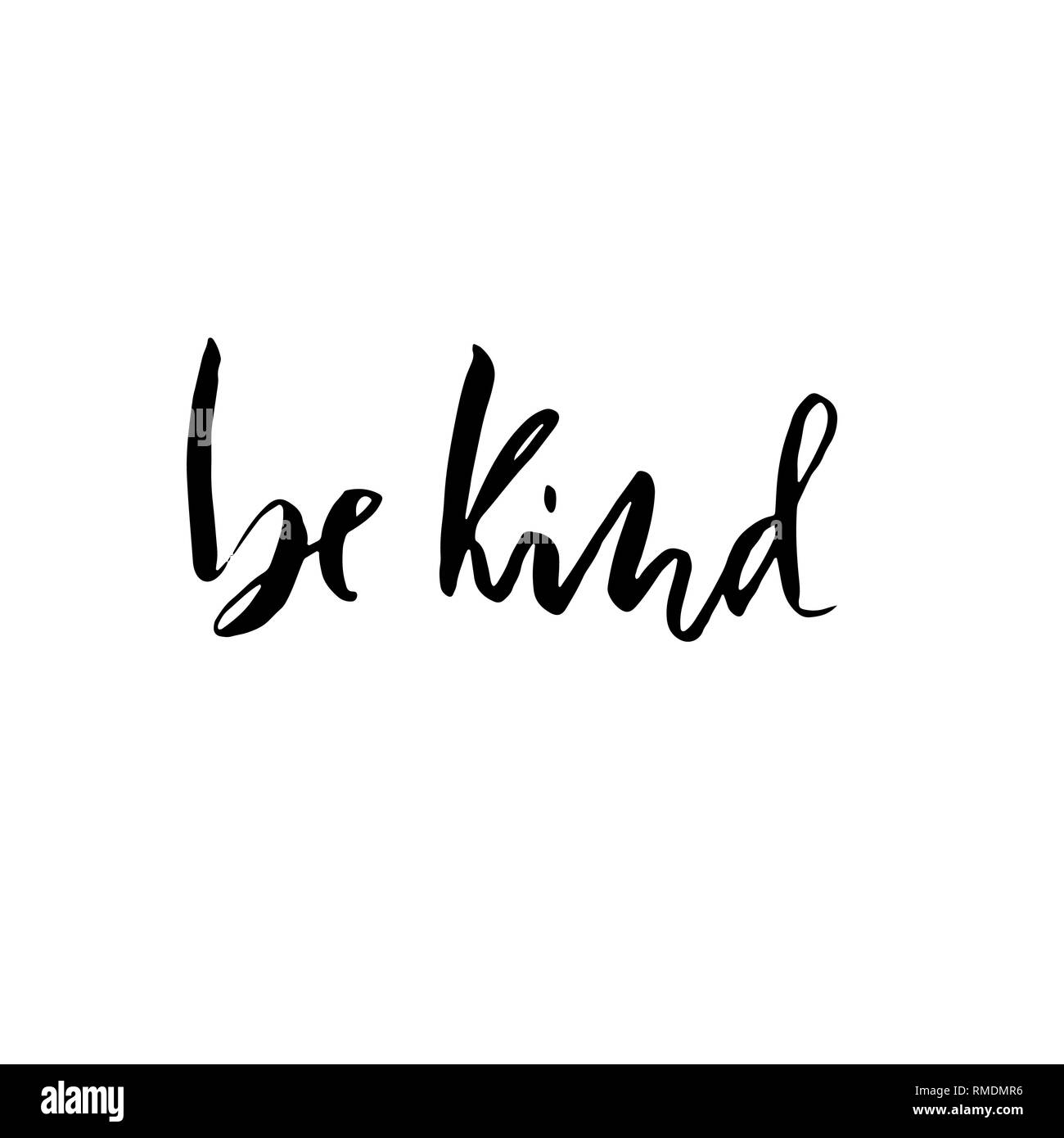 Download Be kind. Hand drawn brush lettering. Modern calligraphy ...