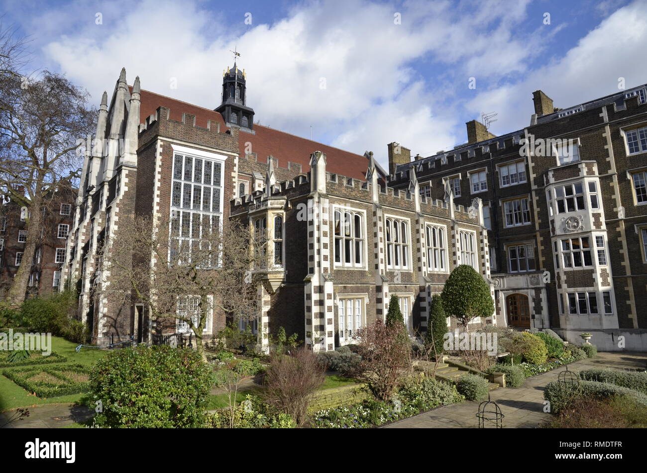 Middle temple Hall, one of the four Inns of Court in the temple area of the City of London - Stock Image