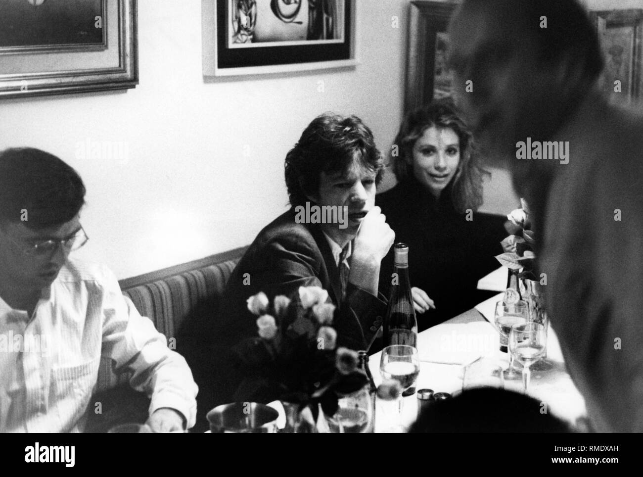 Mick Jagger, a musician, Great Britain, 'The Rolling Stones', in the restaurant 'Tivoli' in Munich. - Stock Image