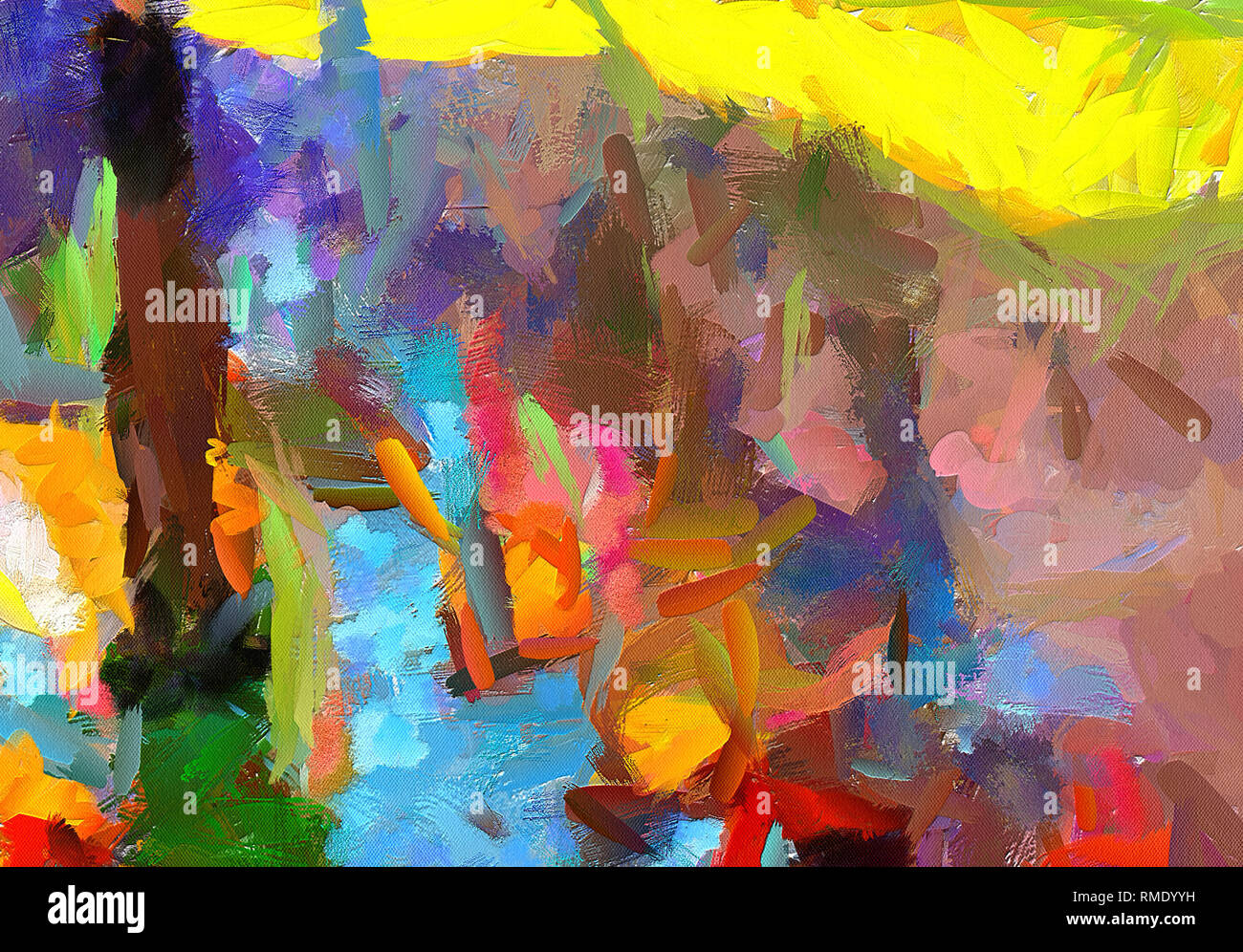 Wall Poster Print Template Abstract Painting Art Hand