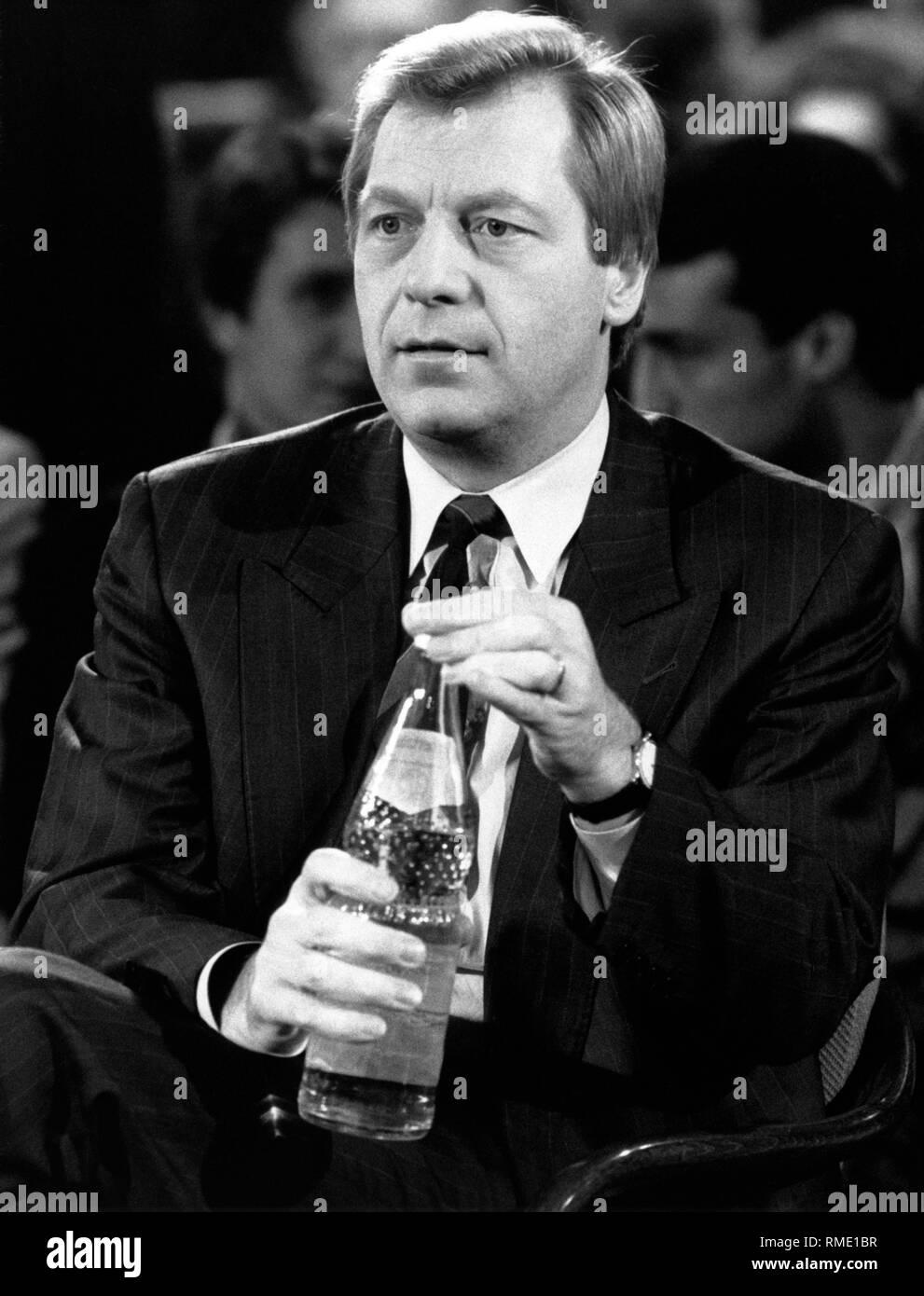 Eberhard Diepgen in a talk show. - Stock Image