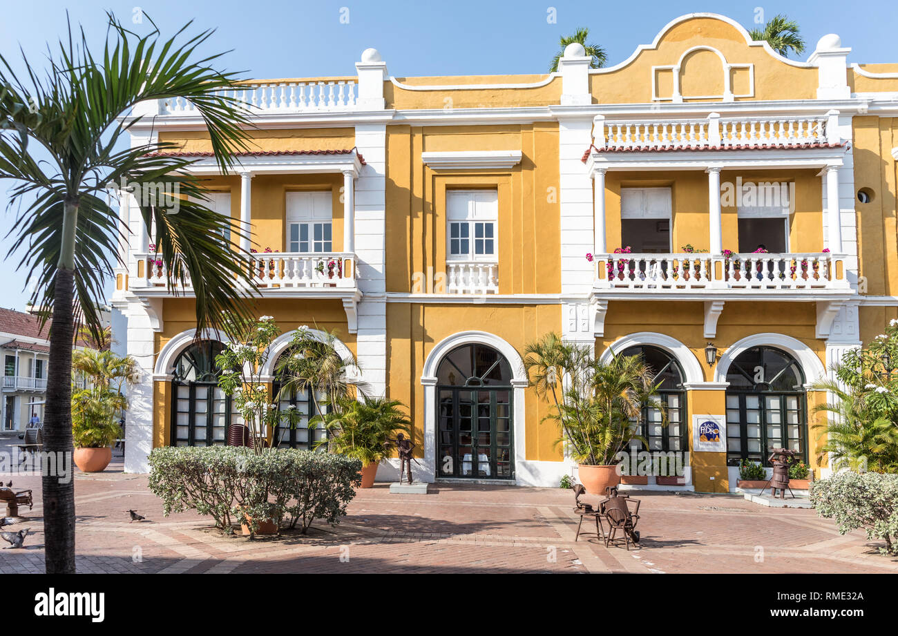 Traditional Spanish Colonial Style Architecture Cartagena Colombia