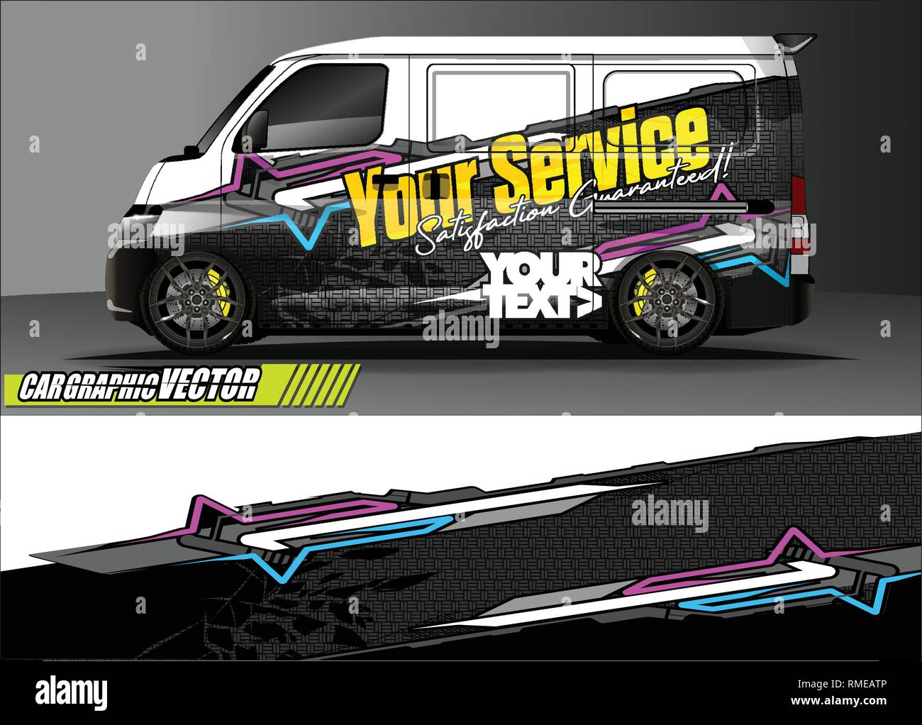 Car wrap design simple lines with abstract background vector concept for vehicle vinyl wrap and automotive decal livery