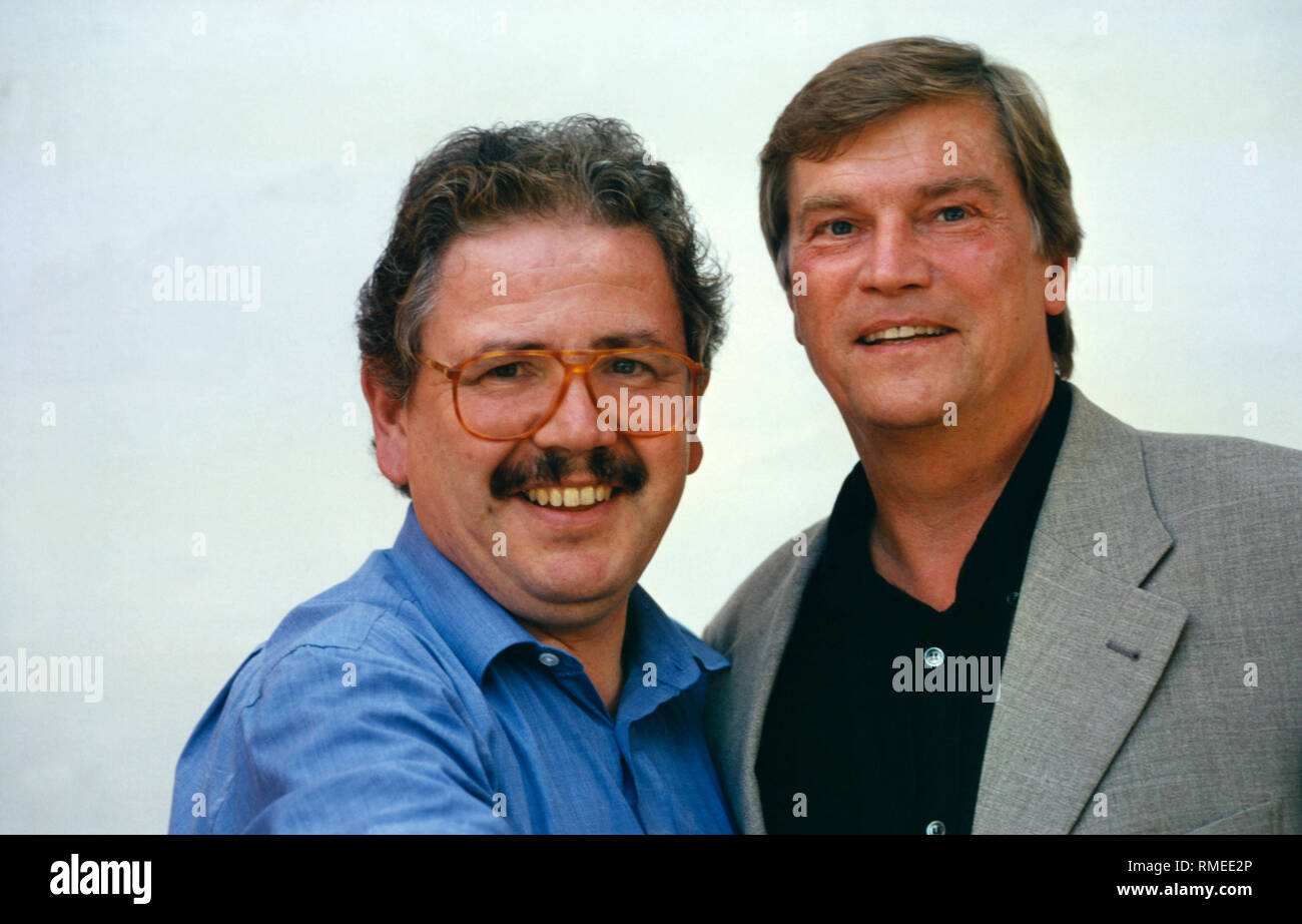 The actors Peter Millowitsch and Jochen Busse (undated photo). Stock Photo