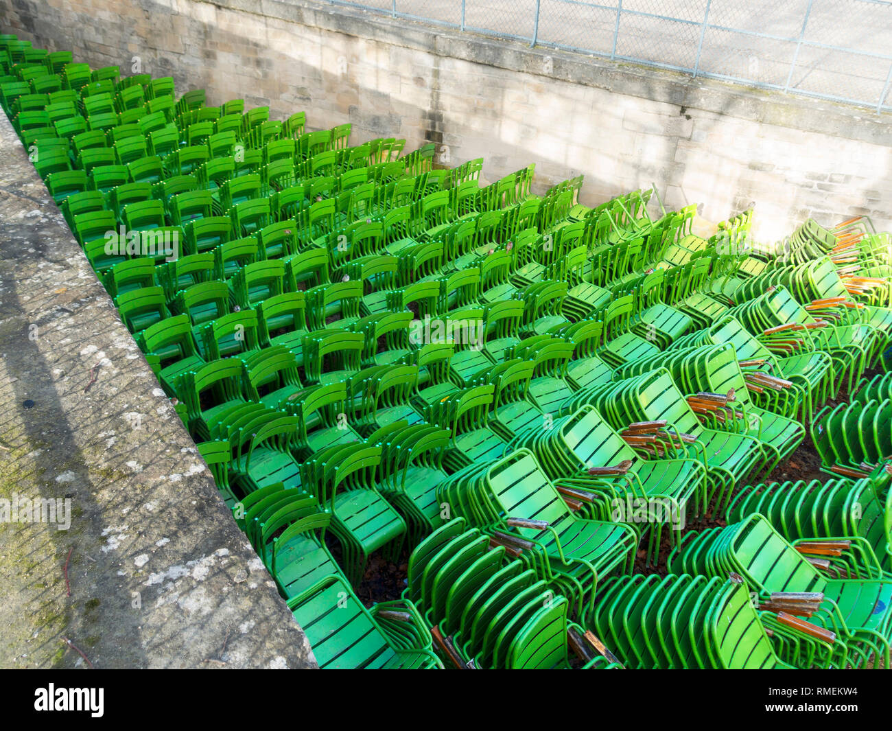 Stacks of Chairs in Stock Photo