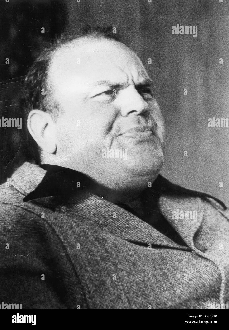 American actor Dan Blocker (b. 10.12.1928 - d. 13.05.1972), became world famous with his role as heavyweight Hoss Cartwright in the western TV series 'Bonanza' (1959-1973). - Stock Image
