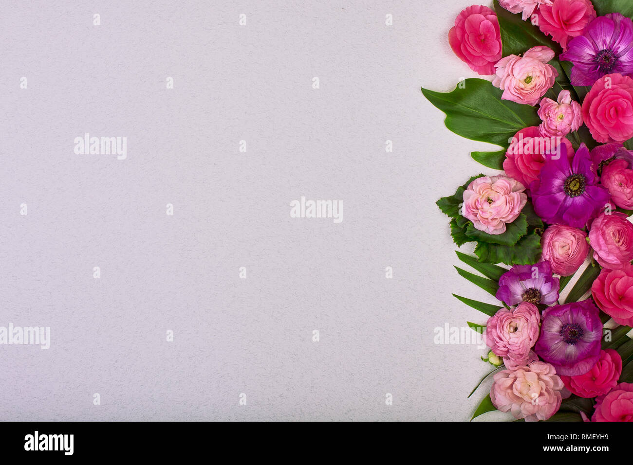 Beautiful Floral Background And Green Leaves Texture