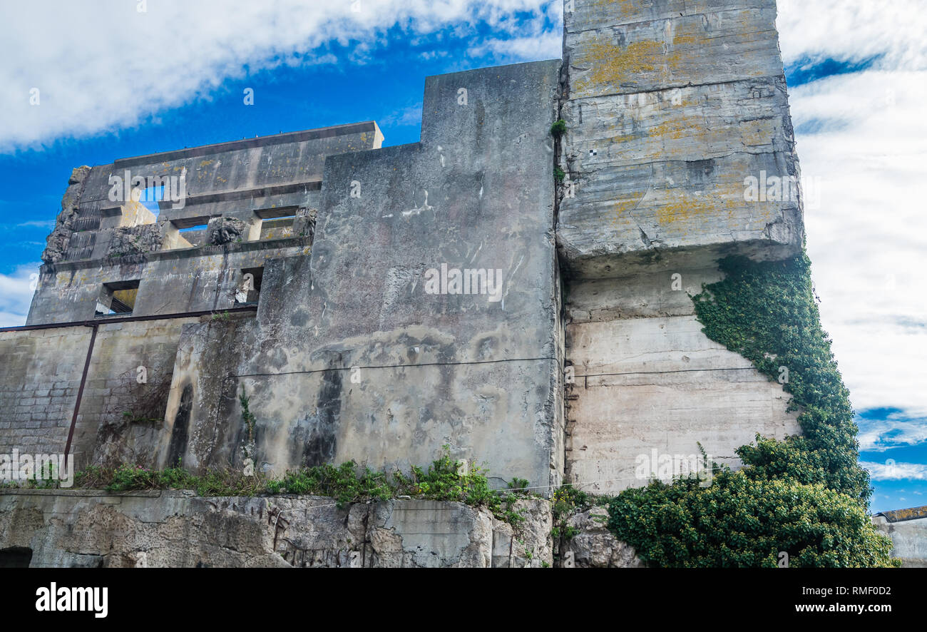 WW2: remains of the German Atlantic wall in Brittany. The U-boot base in Lorient - Stock Image
