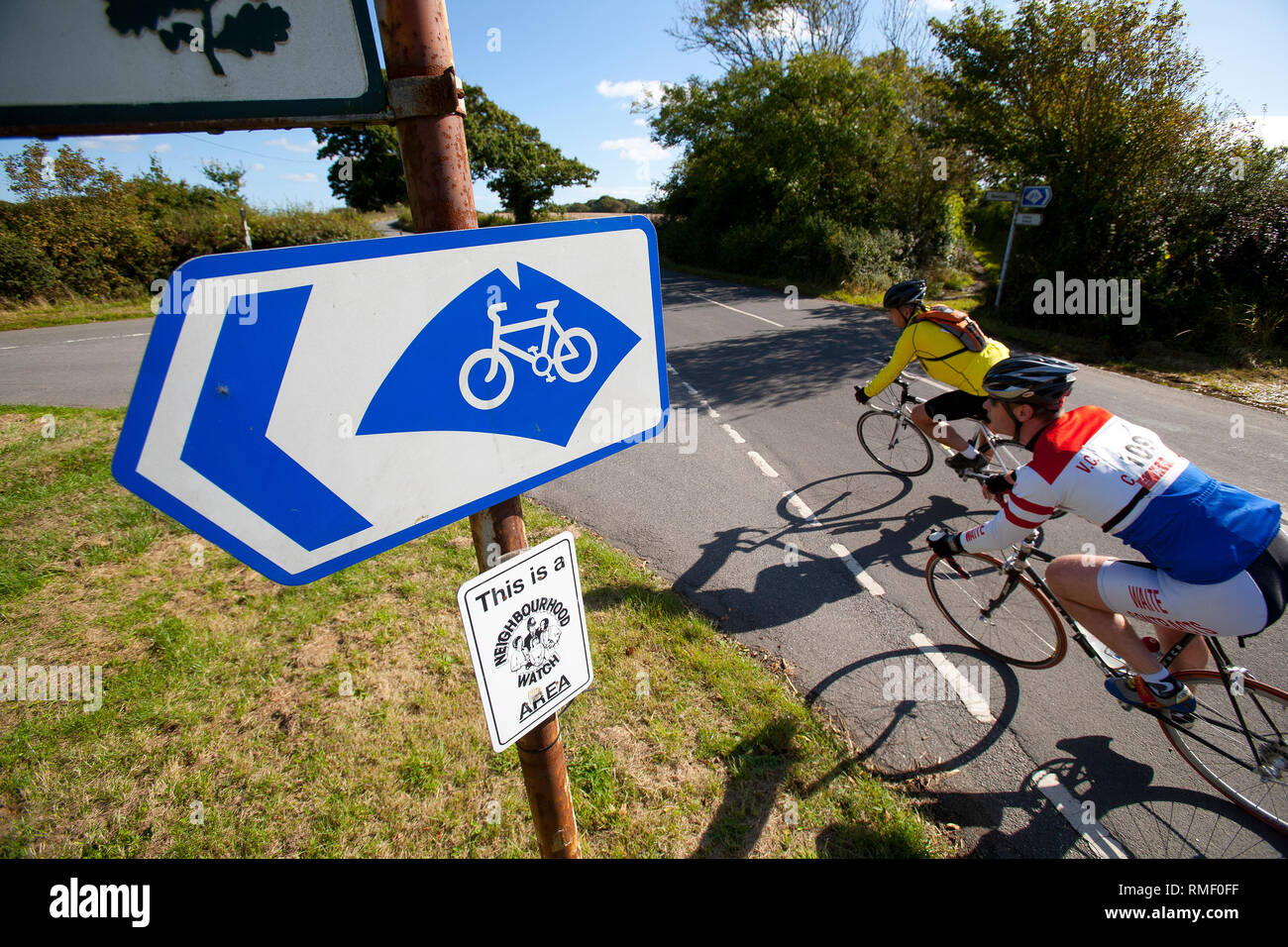 Cycle, Cycling, festival, randonee, vintage, endurance, union, jack, flag, clown, street, festival,route, fitness, fun, exercise, - Stock Image