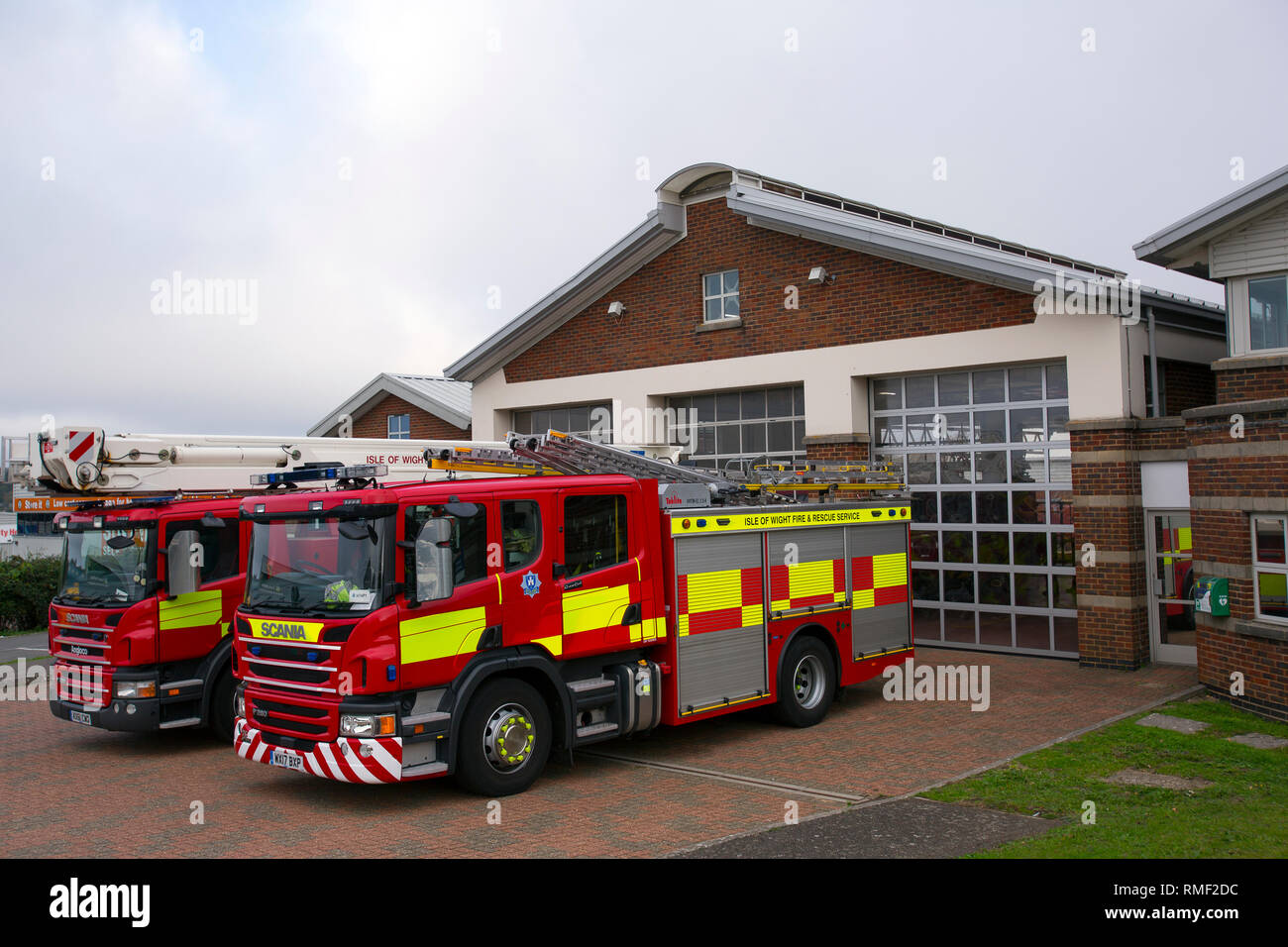Fire Engines, Ryde Firestation, Ryde, Isle Wight, England, UK, - Stock Image