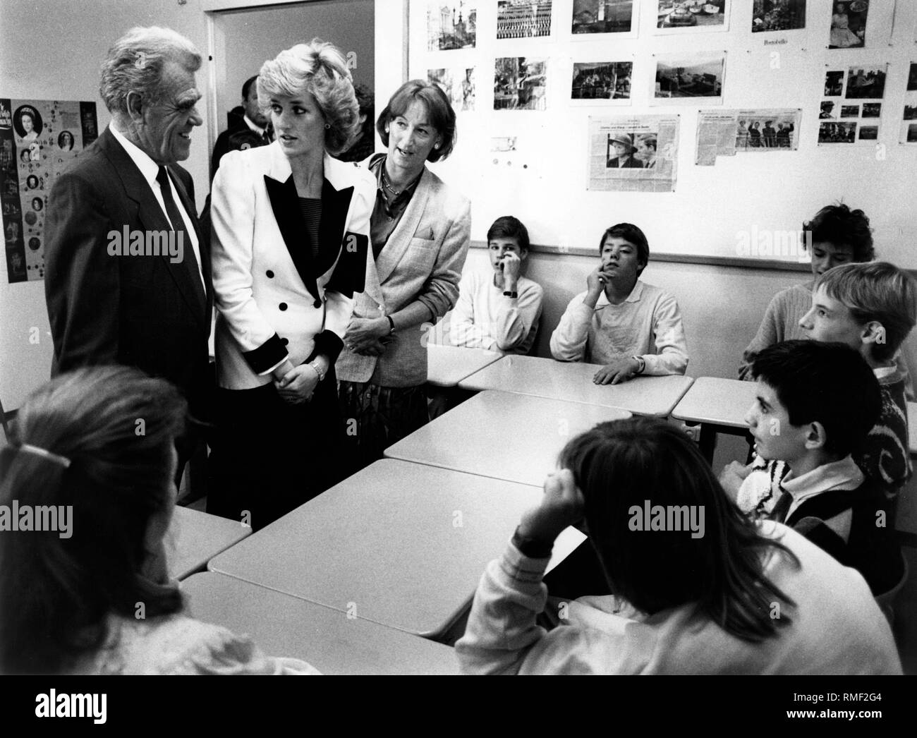 The princess of wales visits a montessori school in munich left the chairman of