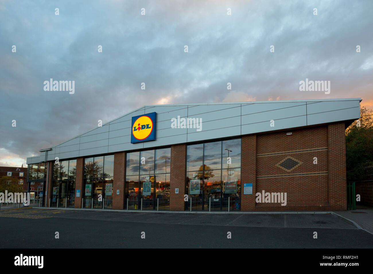 Supermarket, Lidl, Newport, Isle of Wight, Engerland, UK, - Stock Image