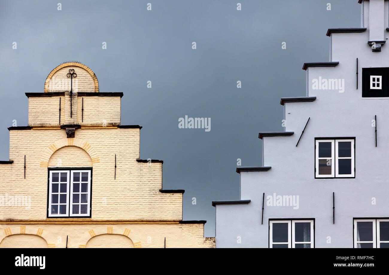 Friedrichstadt, North Friesland district, Schleswig-Holstein, Germany, Europe - Stock Image