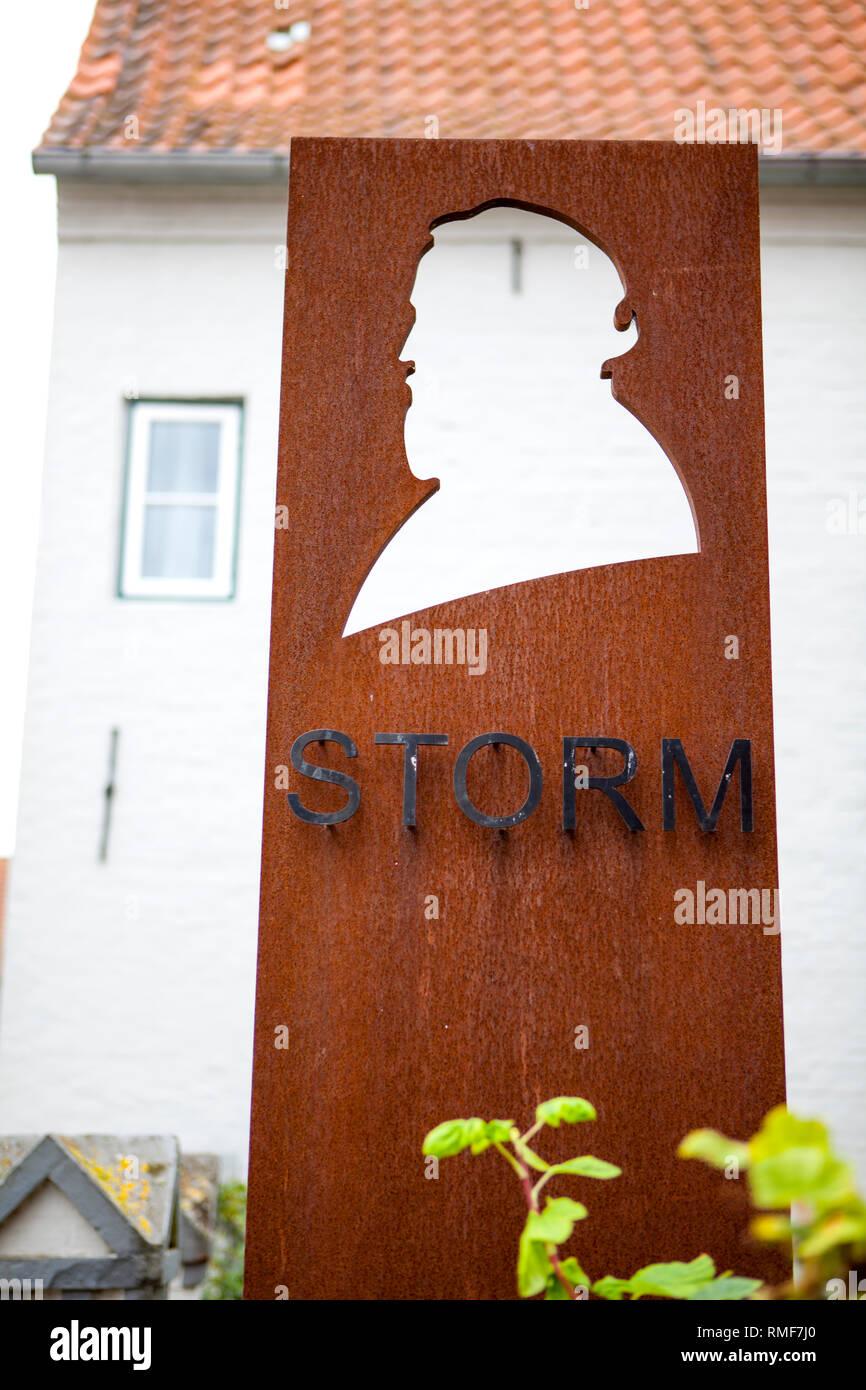 The Theodor-Storm-Haus, Husum, Nordfriesland in Schleswig-Holstein, Germany - Stock Image