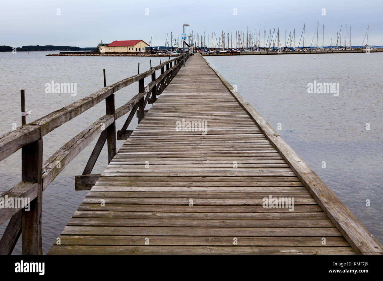 Wackerballig Port, Baltic Sea, Anglia, Schleswig-Holstein, Germany, Europe - Stock Image