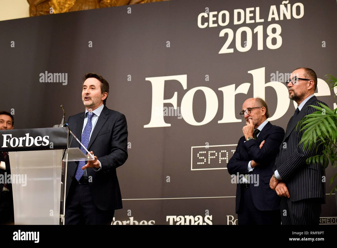 Madrid, Spain  14th Feb, 2019  Spanish company Repsol's CEO, Josu