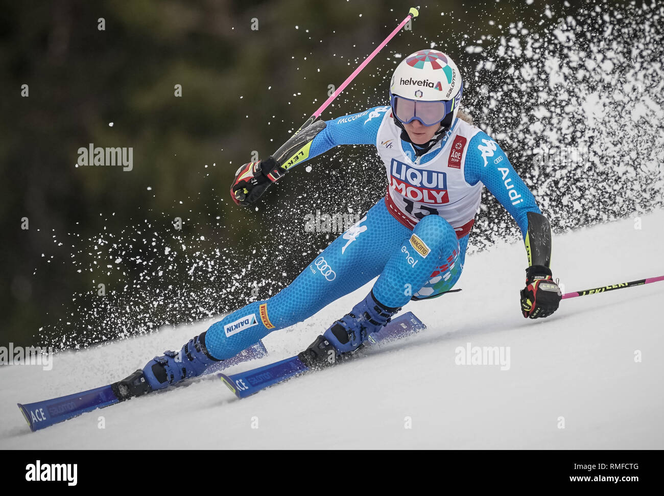 Are Sweden 14th Feb 2019 Alpine Skiing World Championship Giant Slalom Ladies 1st Round Marta Bassino From Italy On The Racetrack Credit Michael Kappeler Dpa Alamy Live News Stock Photo Alamy