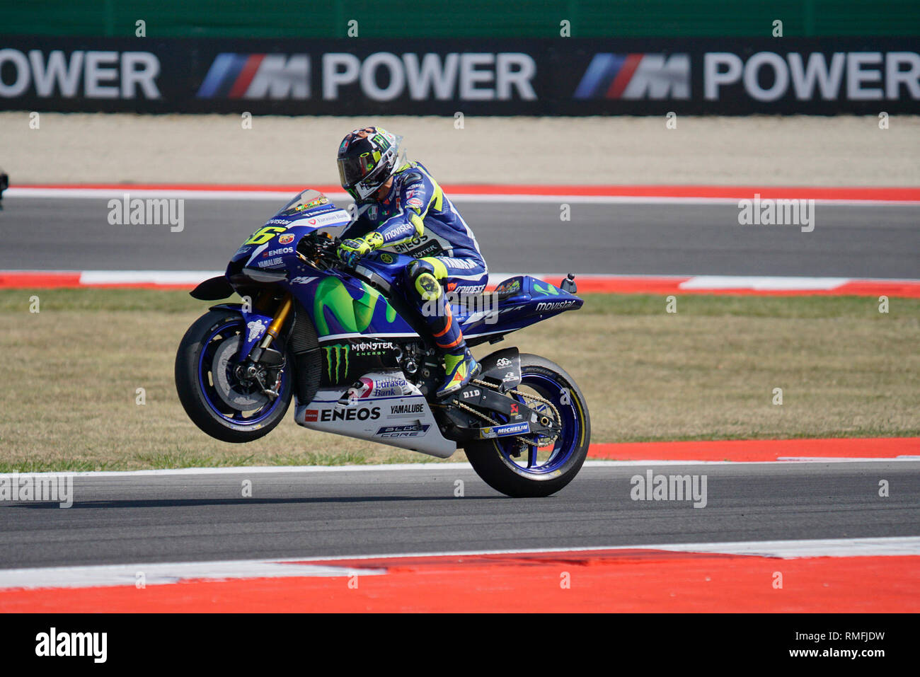 Foto Costanza Benvenuti/LaPresse 10.09.2016 Sport Motociclismo- MotoGP GRAN PREMIO TIM DI SAN MARINO E DELLA RIVIERA DI RIMINI- Misano World Circuit Marco Simoncelli - 2016 nella foto: Valentino Rossi-Yamaha  Photo Costanza Benvenuti/LaPresse 2016 10 September Sport - Motociclismo - MotoGP GRAN PREMIO TIM DI SAN MARINO E DELLA RIVIERA DI RIMINI- Misano World Circuit Marco Simoncelli - 2016 in the Photo: Valentino Rossi-Yamaha Stock Photo