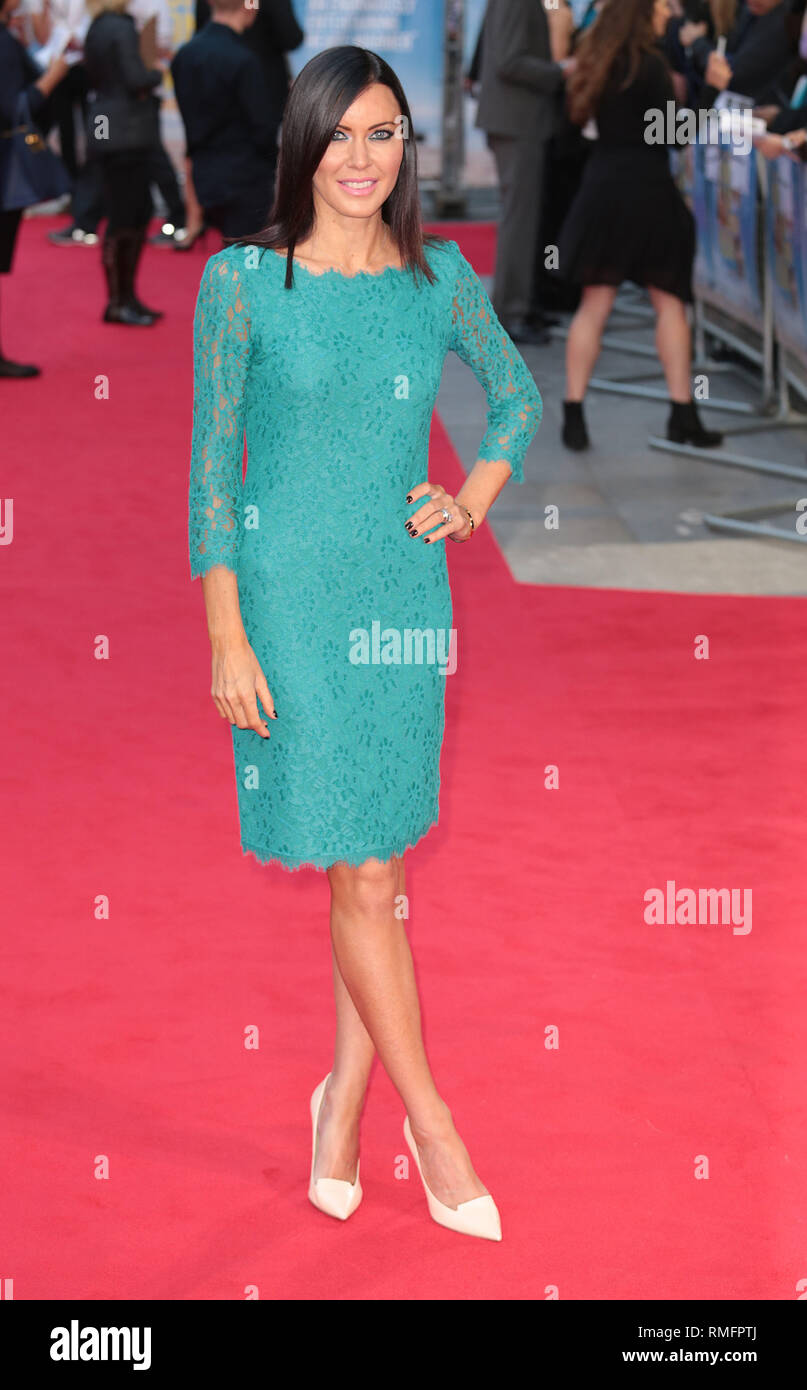 22-09-14: 'What We Did on Our Holiday' - World Premiere, Linzi Stoppard arrives - Stock Image