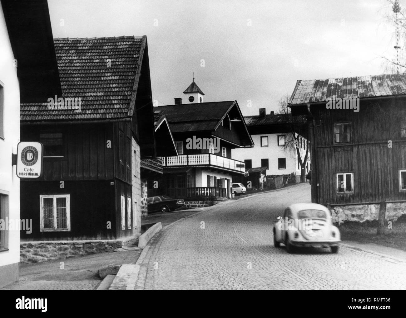 A VW Beetle drives on a street in Mauth (undated shot). - Stock Image