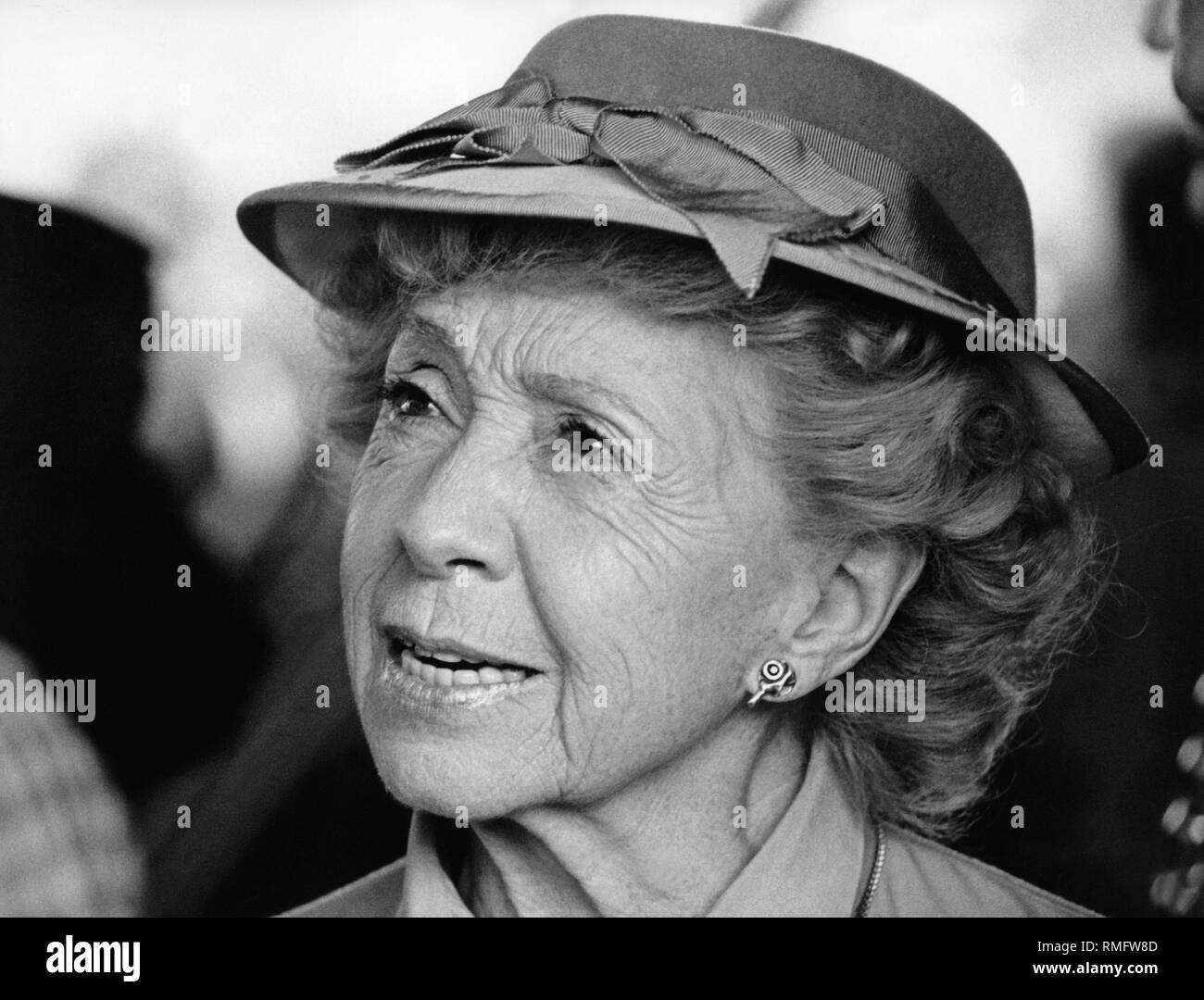 Actress Inge Meysel. - Stock Image