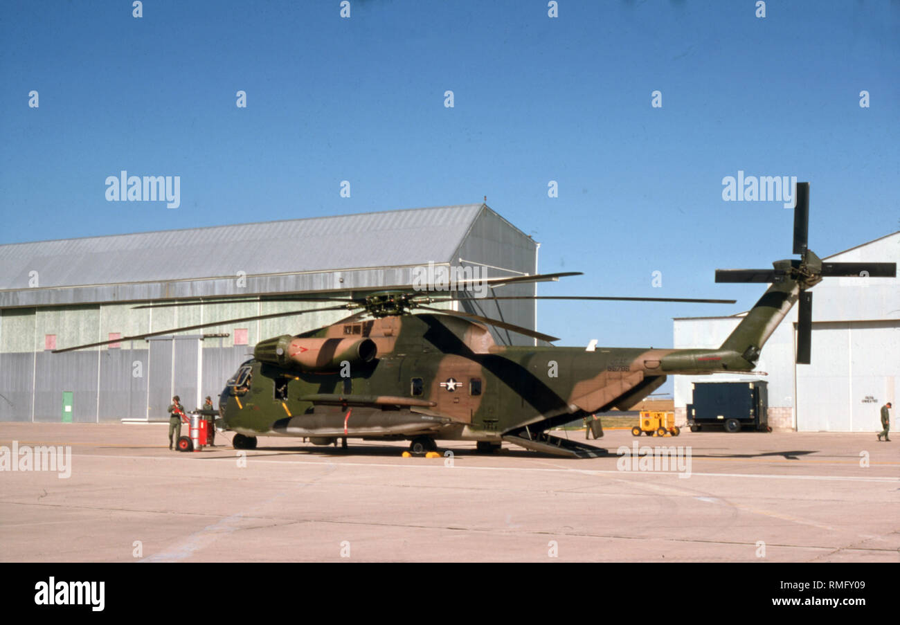 USAF United States Air Force Sikorsky HH-53C Super Jolly Green Giant - Stock Image