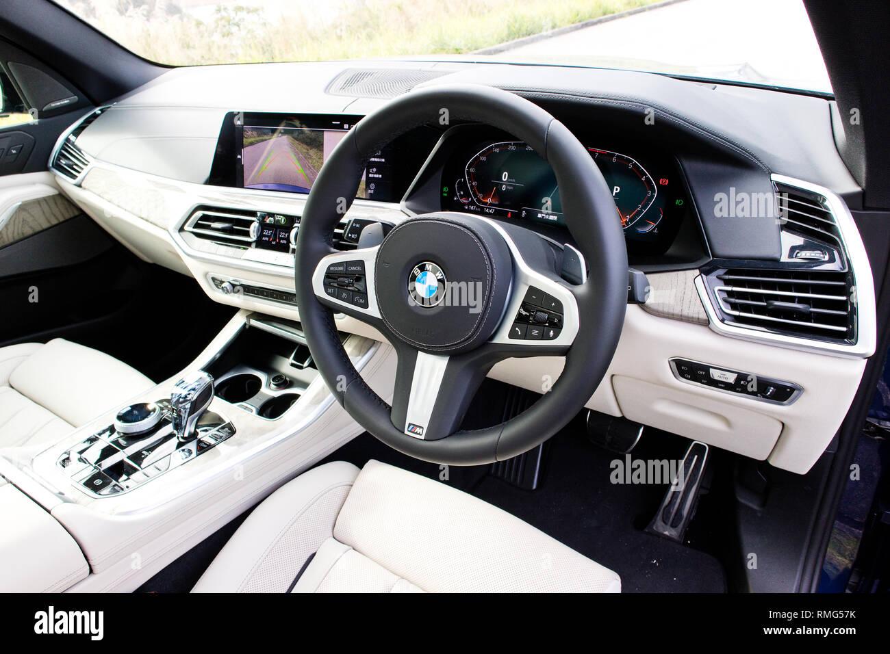 Hong Kong, China Dec 31, 2018 : BMW X5 2018 Interior Dec 31 2018 in Hong Kong. - Stock Image