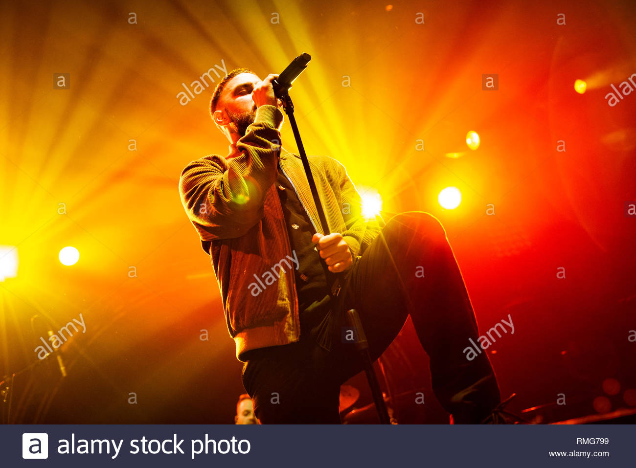 Issues supporting Don Broco in Manchester 2019 - Stock Image