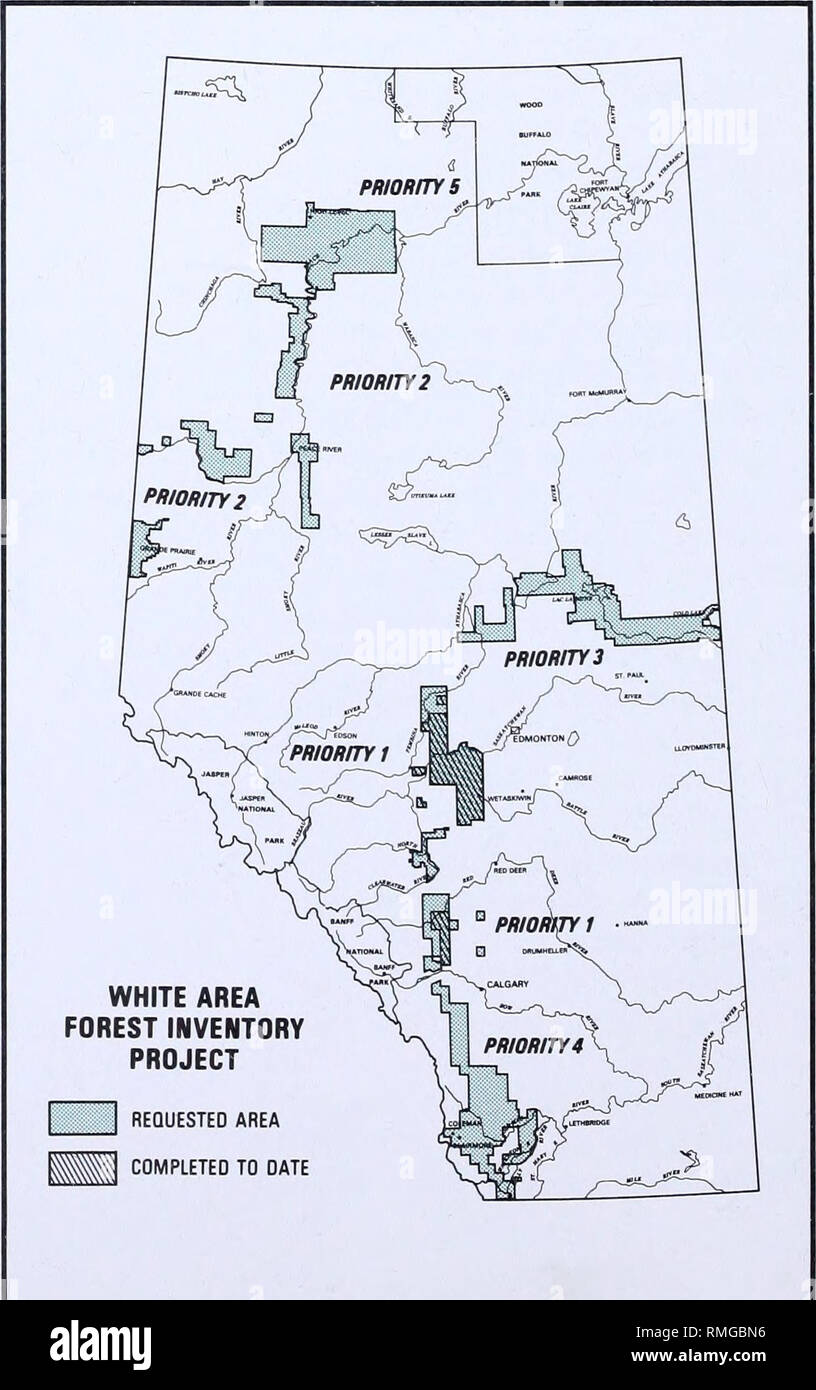 Alberta Public Land Map Annual report. Alberta. Alberta Forestry, Lands and Wildlife