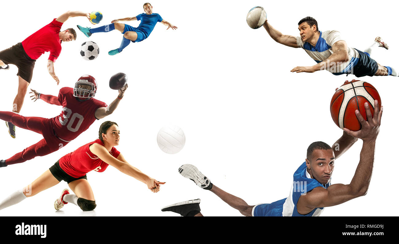 Active Young Women Volleyball Player Sport Stock Vector: Active Young Men Volleyball Player Stock Photos & Active
