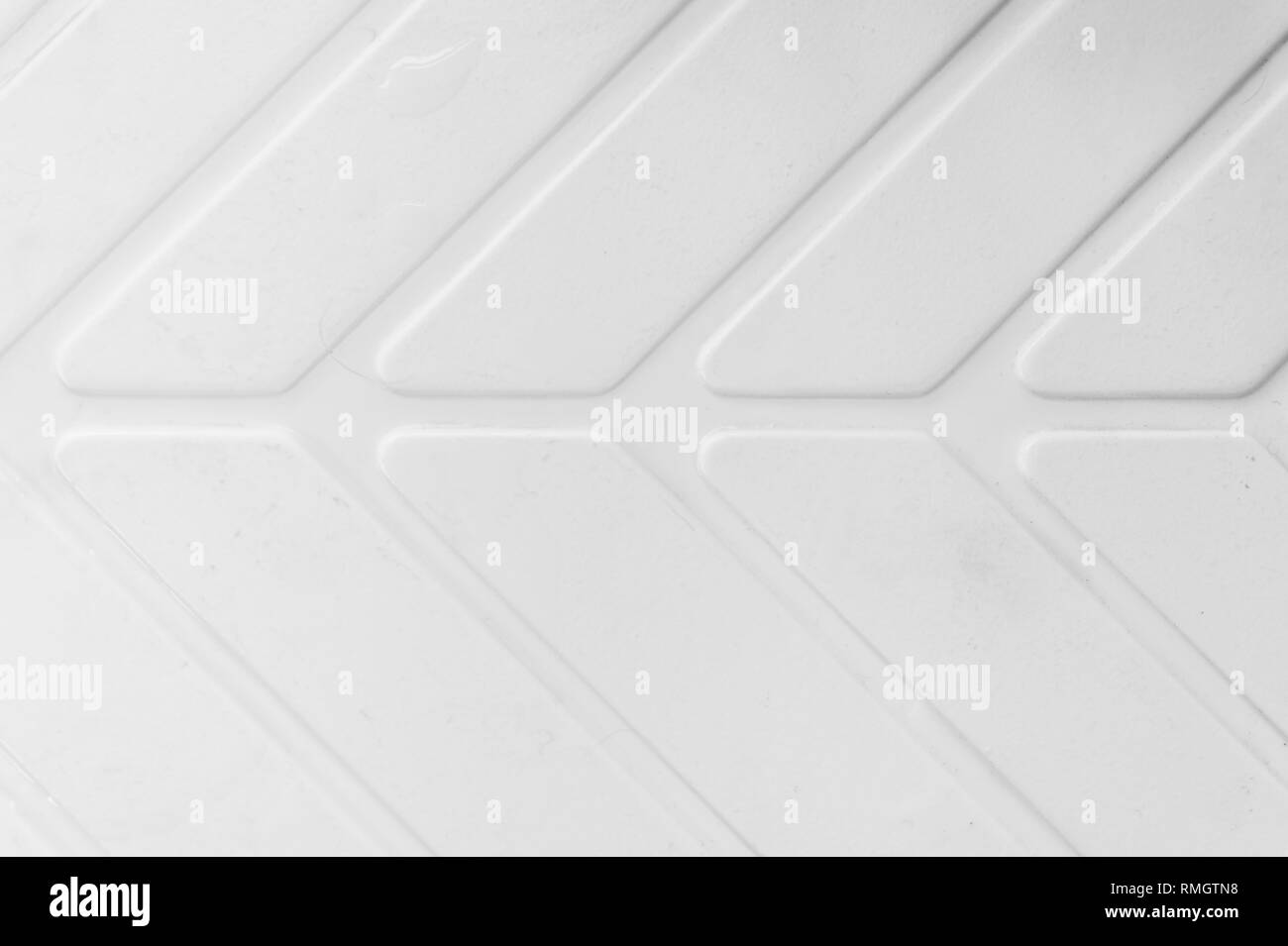 An arrow shape pattern and texture in black and white - Stock Image