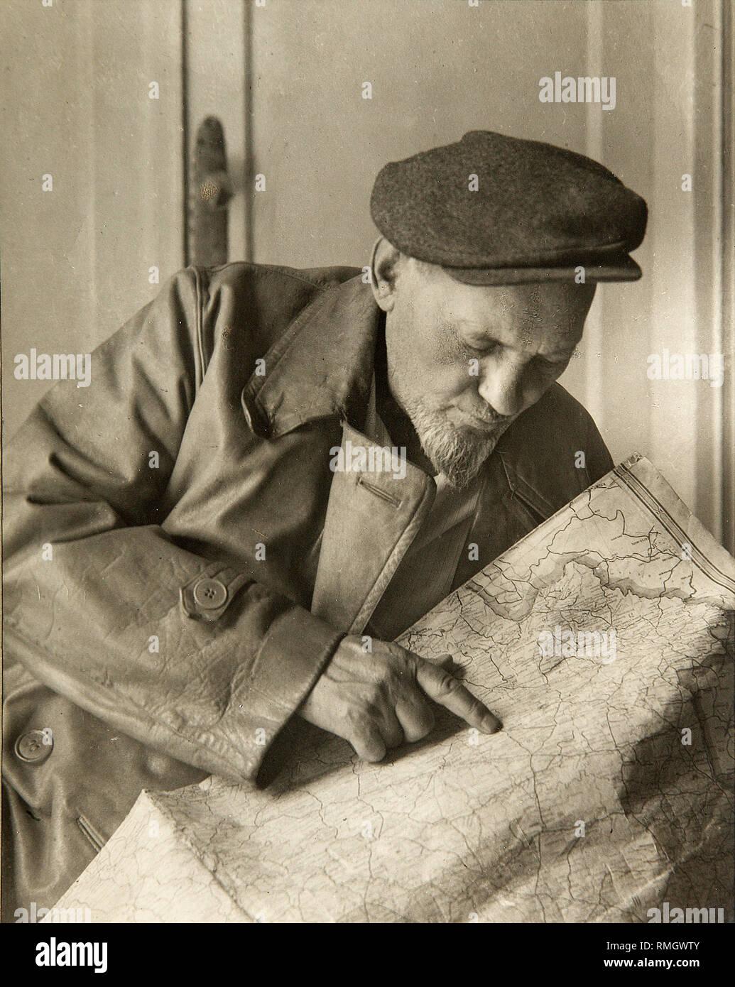 Ukrainian partisan leader during Great Patriotic War Sidor Kovpak. Photograph - Stock Image