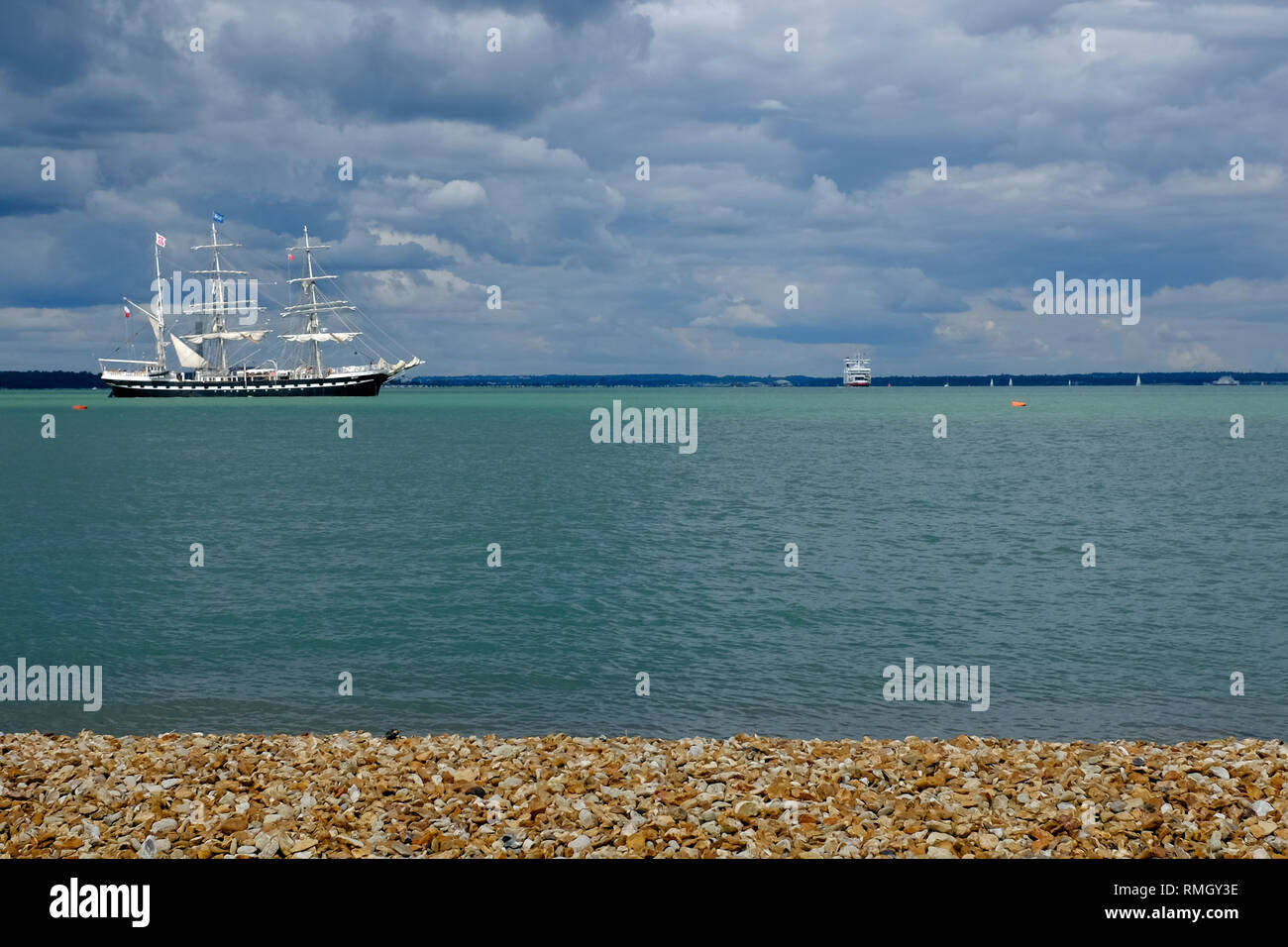 Sail Training Ship, Nelson, The Solent, Cowes, isle of Wight, England, UK, - Stock Image