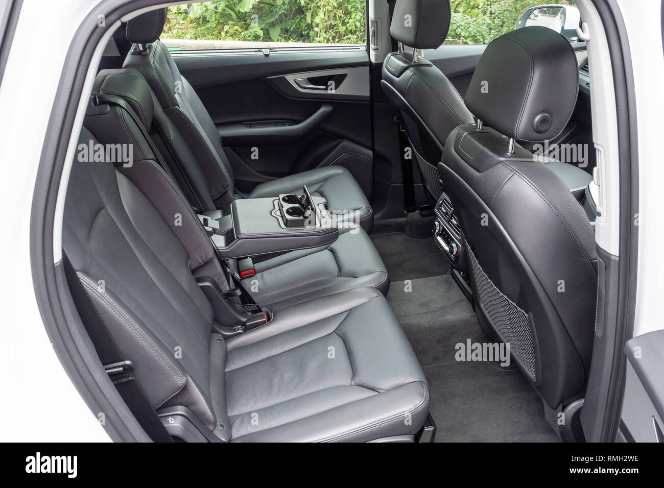 Hong Kong China Jan 8 2019 Audi Q7 2019 Rear Seat Jan 8 2019 In