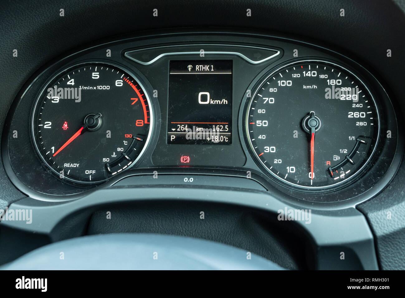 Hong Kong China Jan 23 2019 Audi A3 Sportback 2019 Dashboard Jan 23 2019 In Hong Kong Stock Photo Alamy