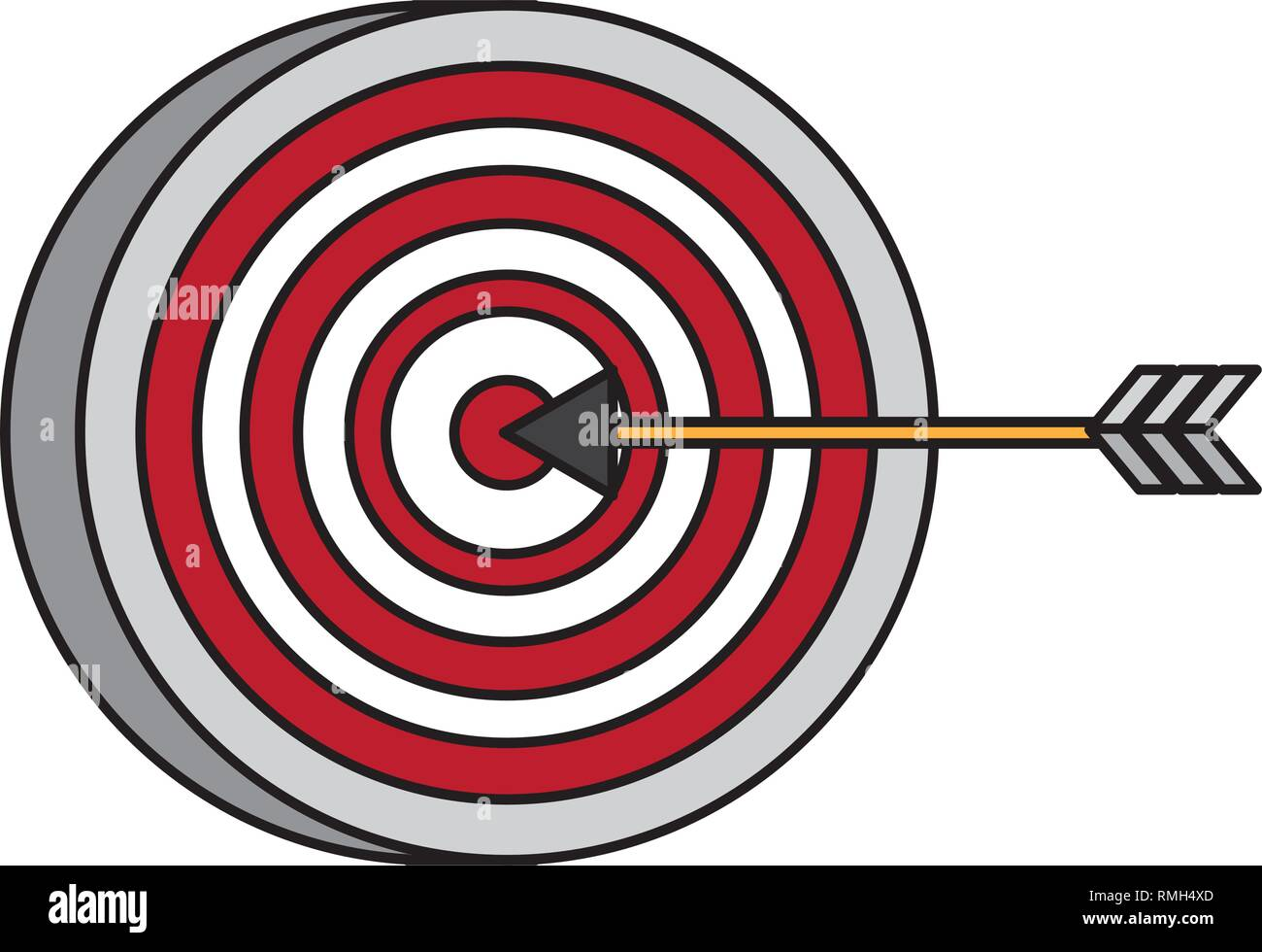 target arrow strategy Stock Vector