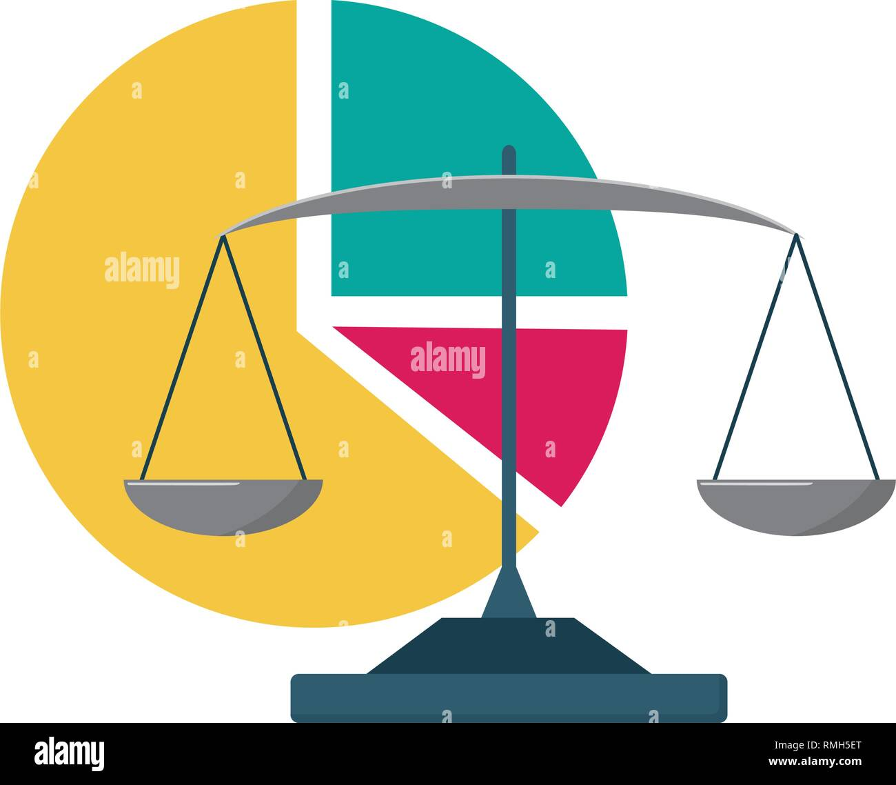 business balance and chart pie report stock vector art Thermometer Diagram business balance and chart pie report