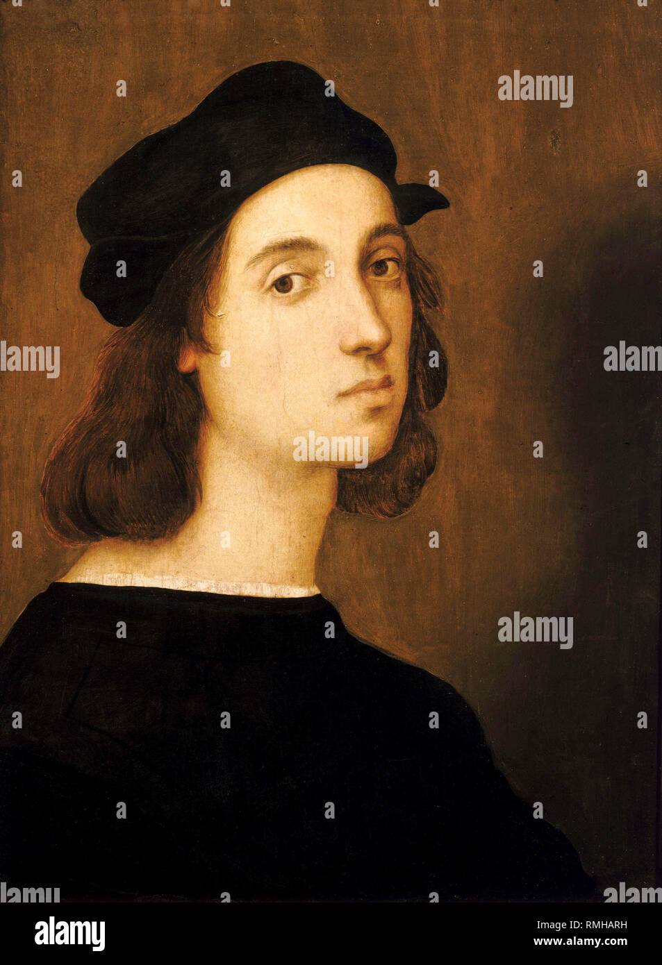 Raphael, portrait of Raffaello Sanzio da Urbino (1483 – 1520), Italian artist painter - Stock Image