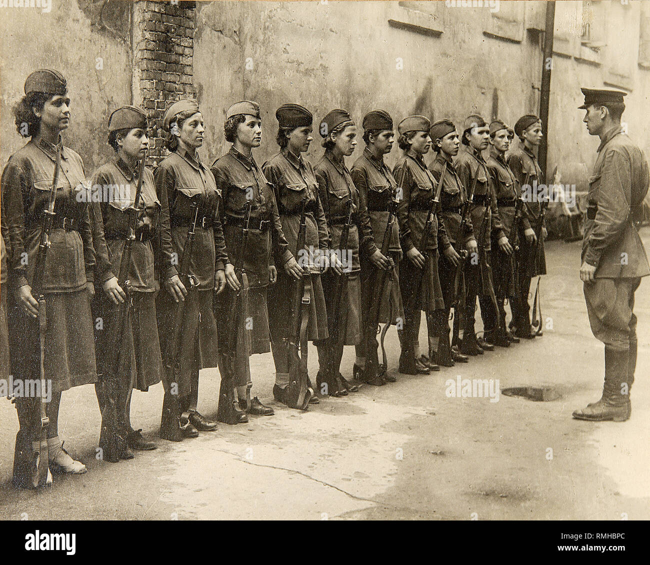 Great Patriotic War. Women - Warriors of the Red Army. Photograph - Stock Image