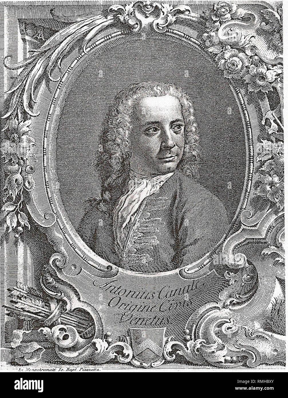Canaletto, Giovanni Antonio Canal (1697 – 1768), Canaletto, Italian painter artist - Stock Image