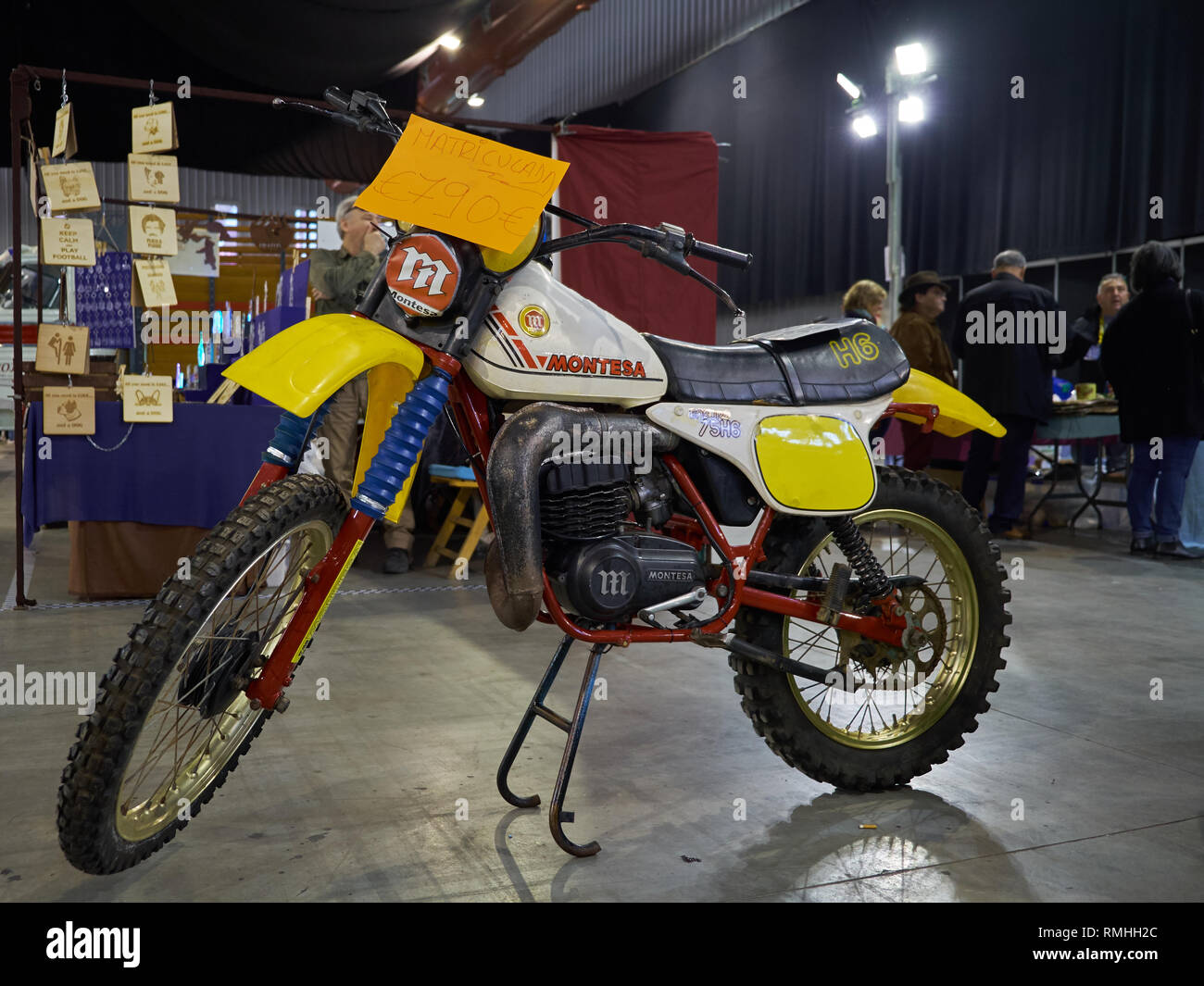 Montesa Enduro 75 H6. Retro Málaga 2019. Spain. Stock Photo