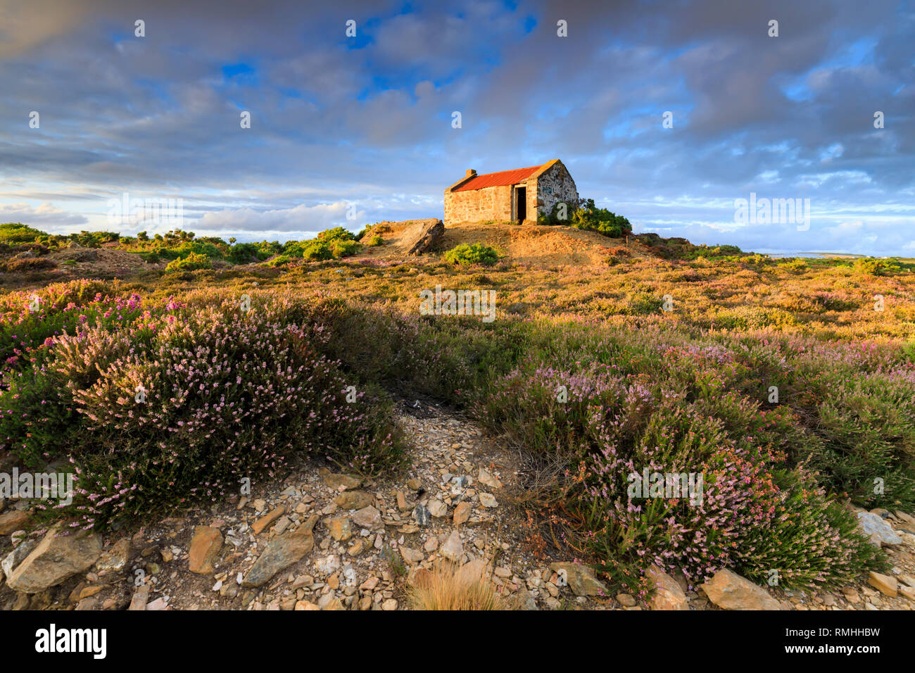 The crib hut near Tywarnhalye Engine House near Porthtowan in Cornwall. - Stock Image