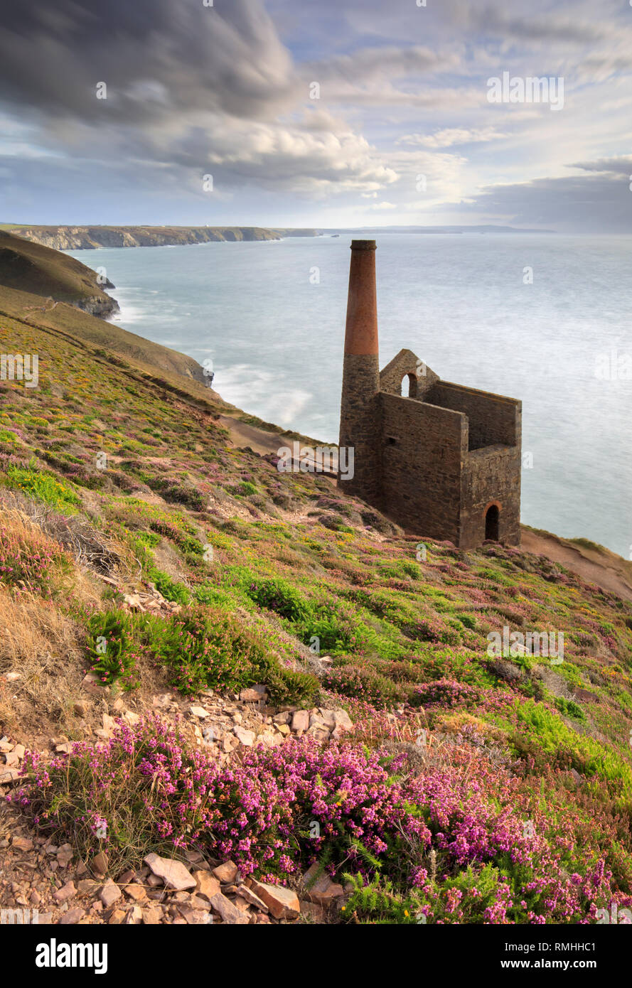 Wheal Coates Engine House near St Agnes in Cornwall. - Stock Image