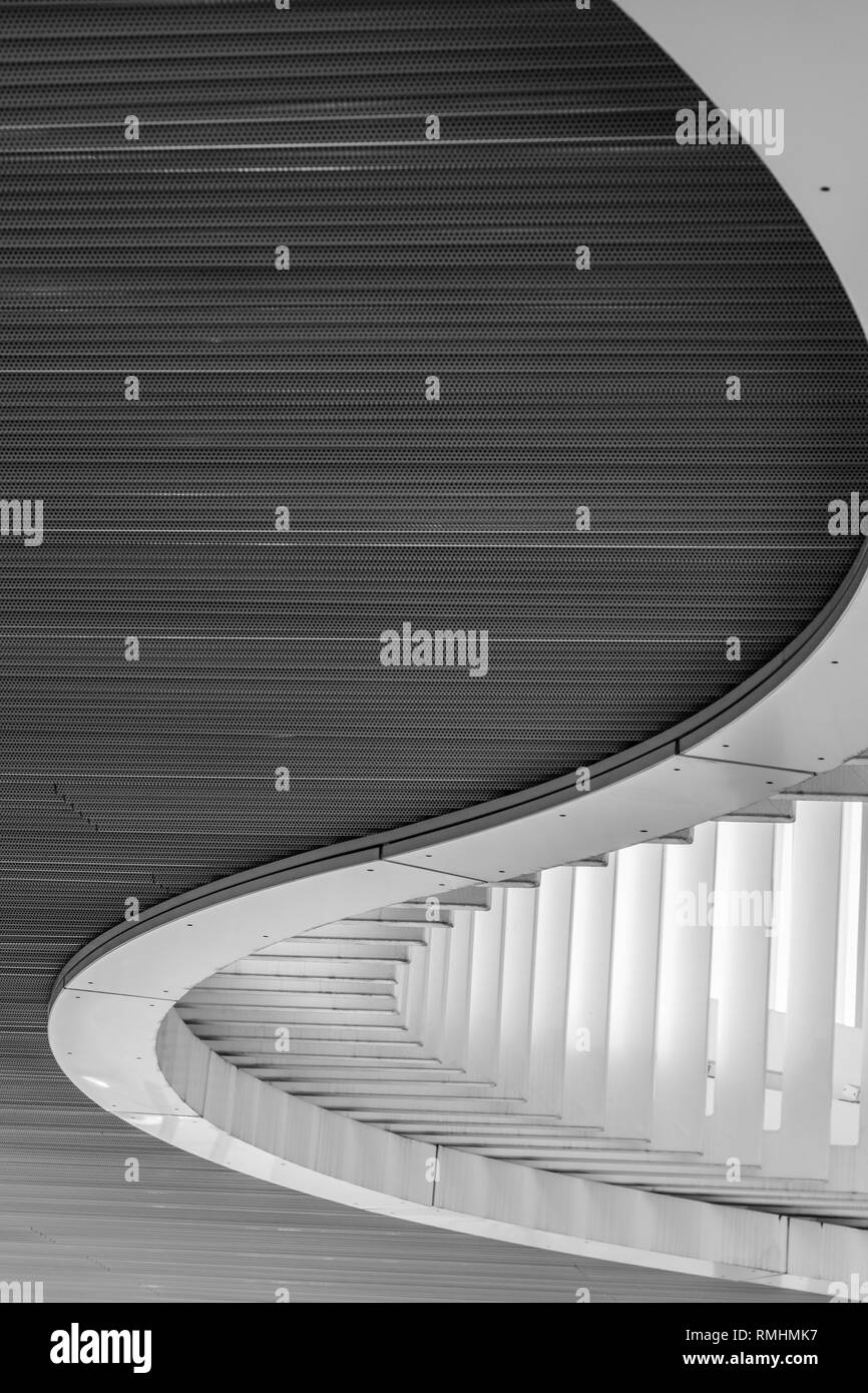 Abstract curved feature of an installation outside the Vancouver Art Gallery - Stock Image