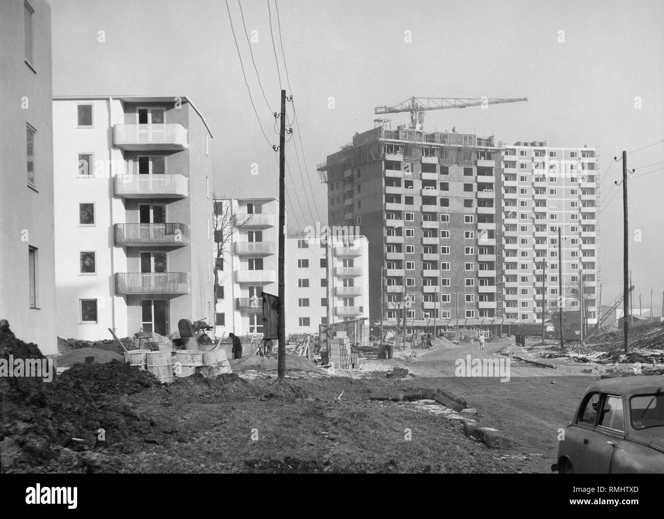 Construction Of The Park Settlement In The Munich District Of Bogenhausen The Developer Was The Neue Heimat Bayern Stock Photo Alamy
