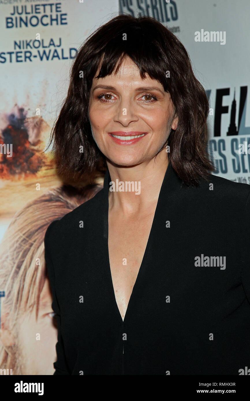 New York, USA  07 Oct, 2014  NYFCS Actress, Juliette Binoche