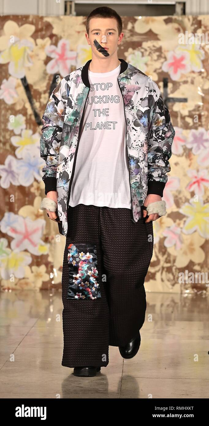 London Label Vin and Omi goes even Greener for Fall 2019 - Stock Image