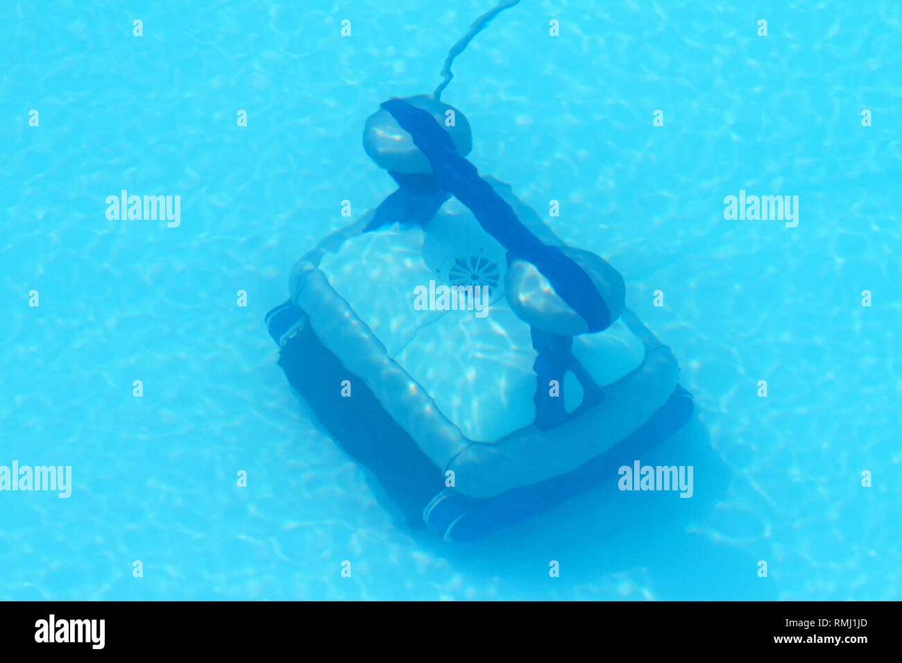 Automatic robot cleaner underwater in swimming pool Stock ...